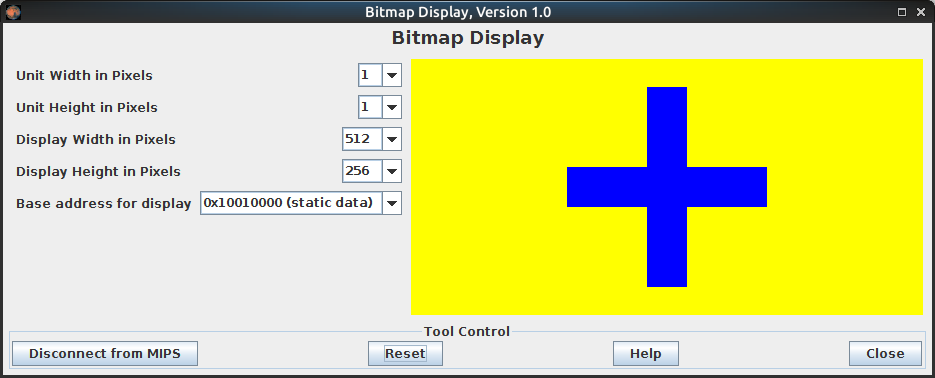 Displaying simple graphics in a Bitmap display using MIPS assembly assignment help