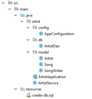 Database Class Structure
